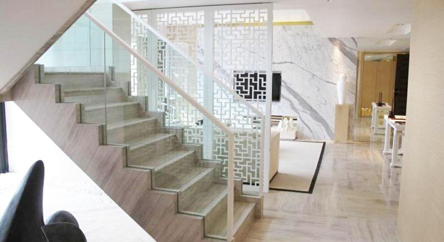 现代白色中式风格别墅