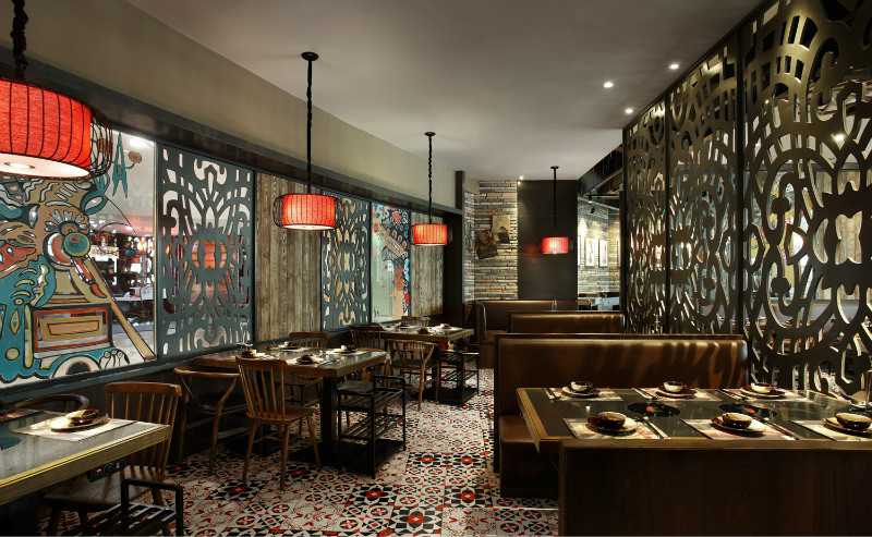 重庆火锅店为设计主题的装修效果图