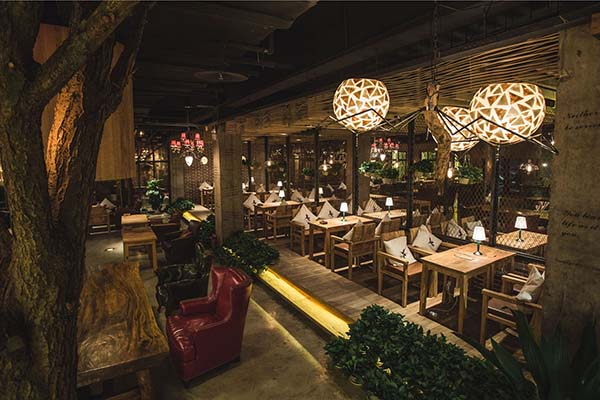 花园餐厅咖啡花